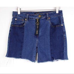 Romeo + Juliet Cut Off Distressed Denim Shorts